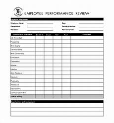 free 10 sle performance evaluation forms pdf