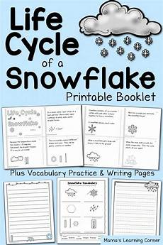 science winter worksheets 12463 free printable cycle of a snowflake booklet and worksheets kindergarten science