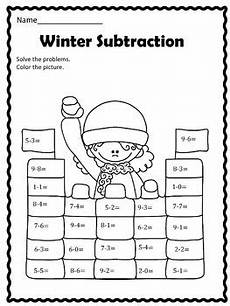 winter addition worksheets for kindergarten 9376 free winter subtraction by christi s creative corner tpt