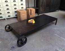 Chariot Table Basse Industrielle