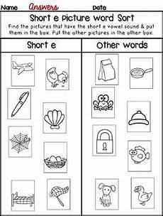 iworksheets short e vowel sound worksheets tpt