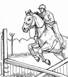 horses jumping coloring pages color horses competition