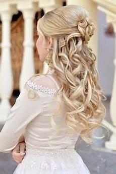 Brautfrisuren Mit Schleier Halboffen - hochzeitsfrisuren mit schleier halboffen