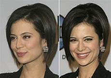 catherine bell short lifted bob smoothed and tucked behind the ear