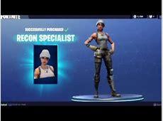 New Skin Recon Specialist fortnite   YouTube