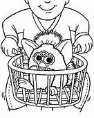 Furby Coloring Sheet For Kids Printable Free One