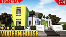 Minecraft Modern House Tutorial Part 2 Of 4
