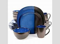 Gibson Elite Volterra 16 Piece Dinnerware Set in Cobalt