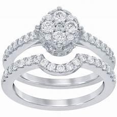 disney enchanted 14k white gold 3 4 ctw diamond bridal bridal sets jewelry