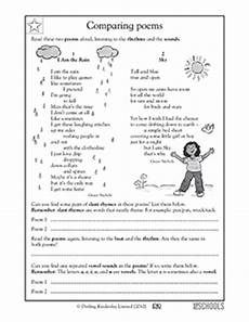 poetry worksheet for grade 5 25419 5 176 grado la lectura leer con fluidez worksheets poems comparing greatschools