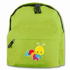 kinder rucksack mit kleiner raupe als motiv kindergarten