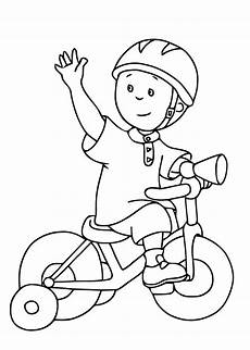 12 coloring pages of caillou print color craft
