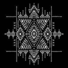 le stuoie modello senza cuciture d annata azteco tribale