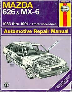 vehicle repair manual 1989 mazda mx 6 security system 1983 1984 1985 1986 1987 1988 1989 1990 1991 mazda 626 and mx 6 repair manual ebay