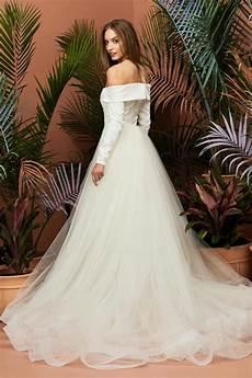 princess aline sleeved open back wedding dresses almette wedding dresses like princess eugenie s bridal gown