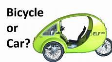 car vs bicycle organic transit 2fr velomobile