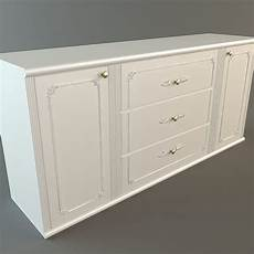 white credenza white credenza cabinet 3d cgtrader