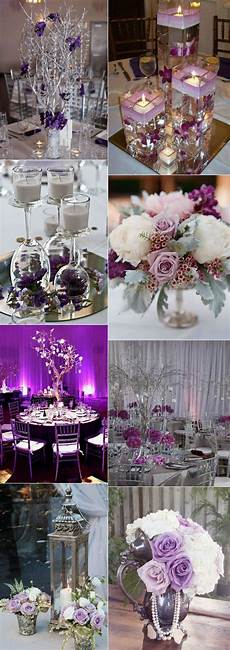 Silver And Purple Wedding Ideas stunning wedding color ideas in shades of purple and silver