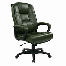 home depot office furniture work smart green leather executive office chair ex5162 g16