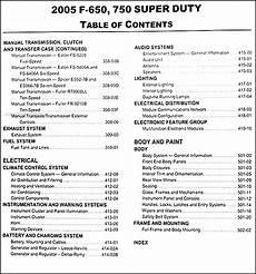 2005 ford f650 fuse box 2005 ford f650 f750 medium truck repair shop manual original