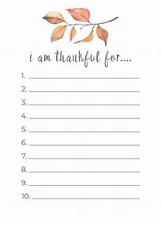 thanksgiving thankful list printable nick