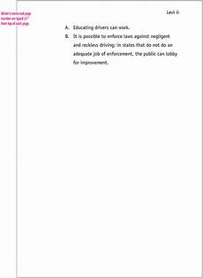 mla format sle paper with cover page and outline mla format