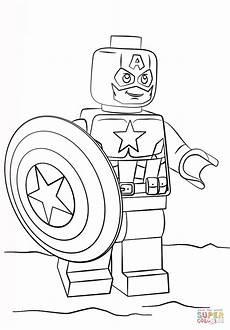 lego captain america coloring ausmalbilder lego