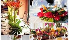 fleur mariage centre de table exotique tropical id 233 e
