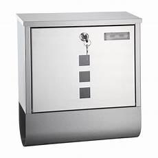 briefkasten mit zeitungsrolle metall briefkasten oslo edelstahl design mit zeitungsrolle