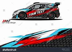 Rally Car Wrap Vector Designs Abstract Livery For Vehicle