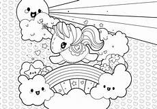 rainbow unicorn coloring page free vector
