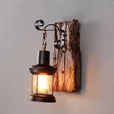 industrial black metal clear glass lantern indoor wall light sconce wall decor ebay