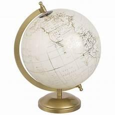 globe terrestre carte du monde cr 232 me et dor 233 globe decor