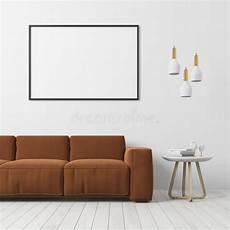 wohnzimmer braunes sofa brown wohnzimmer mit wei 223 em sofa stock abbildung