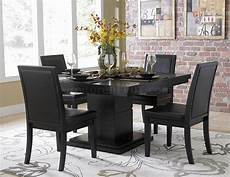 Black Dining Room Table by Black Finish Modern Dining Table W Optional Side Chairs