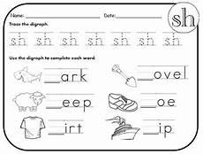 sh ch th digraph worksheets bundle by kindergarten swag