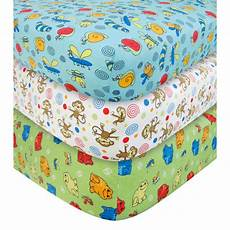 flannel crib sheets trend lab baby critters flannel crib sheet set 3 pk at