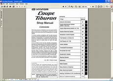 how to download repair manuals 2004 hyundai tiburon lane departure warning hyundai coupe tiburon repair manual order download