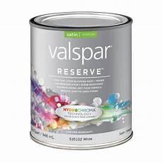 valspar reserve white satin latex interior paint and