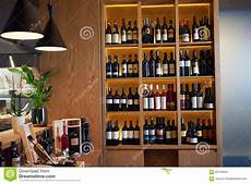 scaffali per vini wine bottles on a wooden shelf stock photo image of