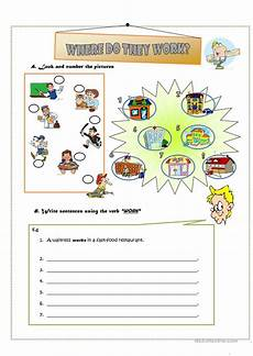 where do they work worksheet free esl printable worksheets made by teachers