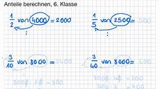 6 klasse anteile berechnen
