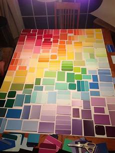 diy paint sle wall art paint chip art pinterest them glued and paint sles