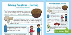 eyfs maths solving problems halving home learning challenges eyfs