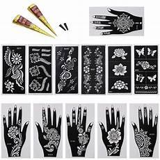 bundle monster 14pc mehndi henna tattoo body starter kit