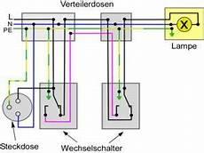 wechselschaltung mit steckdosen elektro
