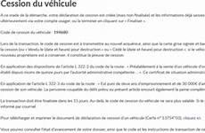 code de cession vehicule qu est ce que le code de cession site immatriculation