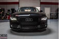 b8 audi a4 on werks coilovers gets rs4 grille