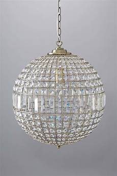 brass and crystal glass ball ceiling light chandelier pendant bhs ursula ebay