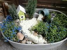 Dekorierte Zinkwanne Zinkwanne Bepflanzen Garten Und